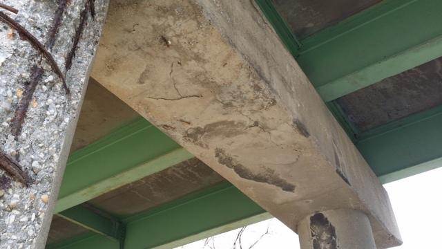 The underbelly of the bridge.