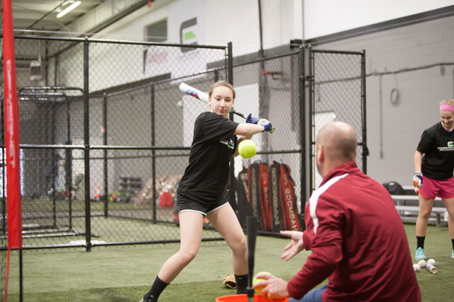 With half of their space devoted to baseball, the other half devoted to speed, strength and agility training, there's always a flurry of activity at the center.