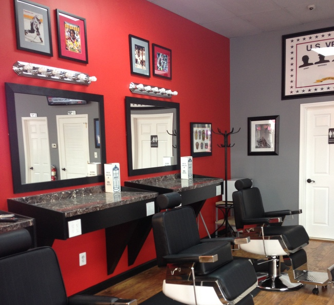 Cutrate Barbershop made a point to make their location comfortable for its customers.