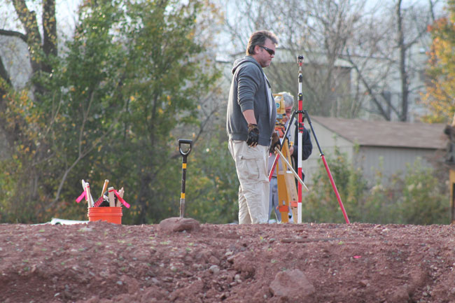 A groundbreaking is held for a new 7-story tower to be build at Manassas Park City Center. [Uriah Kiser / Potomac Lo