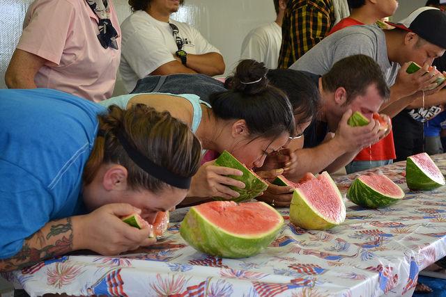 Manassas watermelon eating contest.