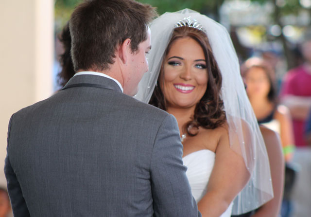 Ashley and Thomas get hitched at Harris Pavilion in Manassas.