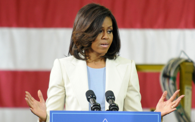 The first lady highlighted the need to hire more U.S. military veterans into the workforce. [Photo: Mary Davidson/Potomac Local]