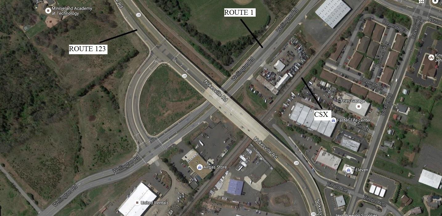 Route 1-Route 123 Interchange similar to Wellington-Route 28 in Manassas