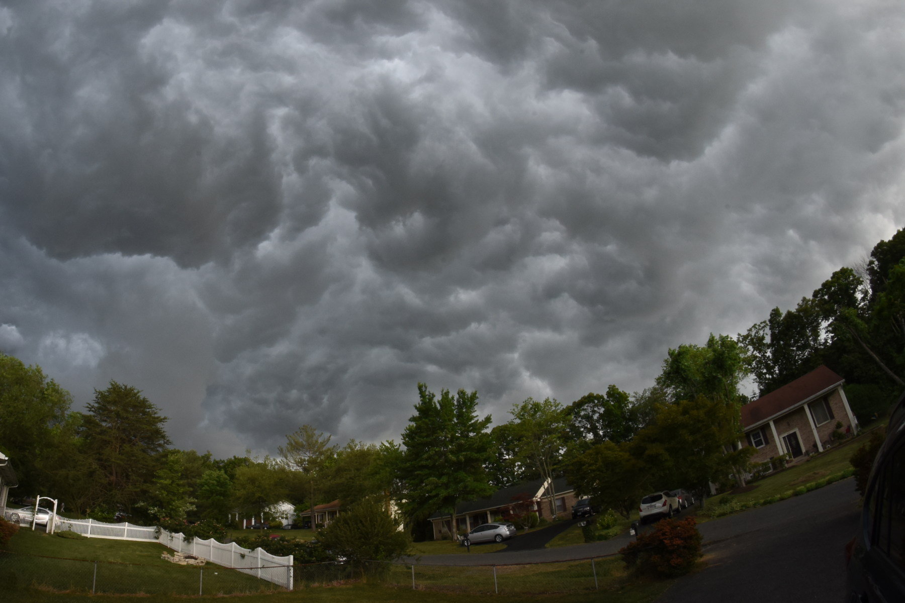 Storm clouds over Stafford.