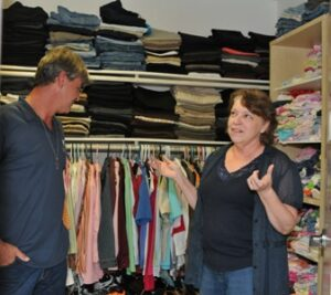 Danny and Gayle Sanders say the linen closet at their Woodbridge homeless shelter is called Macy's, making it easier for those who take donations to tell others where they got it from a familiar-sounding department store. (Mary Davidson/PotomacLocal.com)
