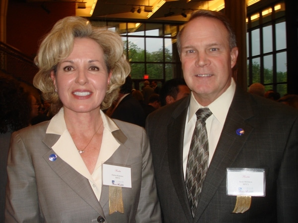 Dalena Kanouse and Kent Milliken of MCTI in Dumfries were nominated for Business of the Year in Prince William County. (Uriah Kiser/PotomacLocal.com)