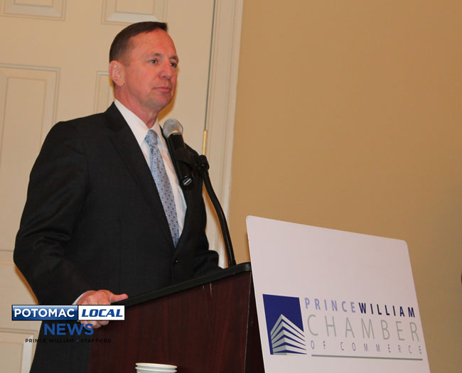 Delegate Mark Dudenhefer, R-Stafford, Woodbridge, got high marks from the Prince William Chamber for his support of an $800 million transportation package approved this year in the Virginia General Assembly. [Photo: Uriah Kiser / Potomac Local News]
