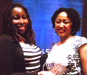 Cydny A. Neville and VLI Founder, Ms. Krysta Jones. [Submitted photo]