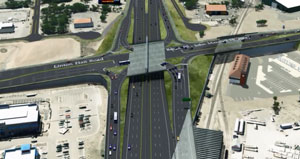 A rendering of what U.S. 29, at Linton Hall Road and Va. 55 will look like when the Gainesville Improvement Project is complete in 2015. [VDOT]