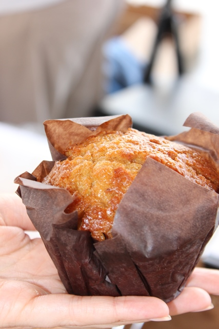 Morning Glory muffin from Bread House bakery. This muffin has carrot and other dried fruit. They also have pumpkin muffins and pumpkin pound cake.