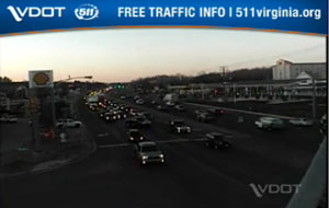 Long delays formed on U.S. 17 in Stafford County on Dec. 12, 2013, after a tractor trailer crashed on nearby I-95. [VDOT]