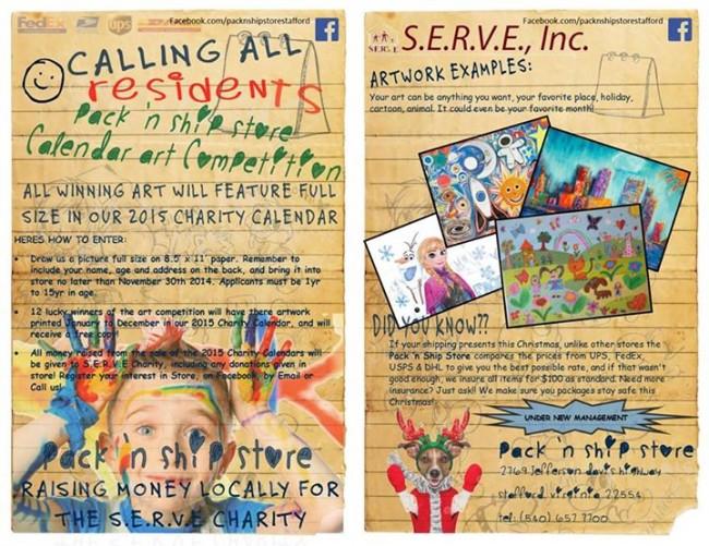 serve charity calendar