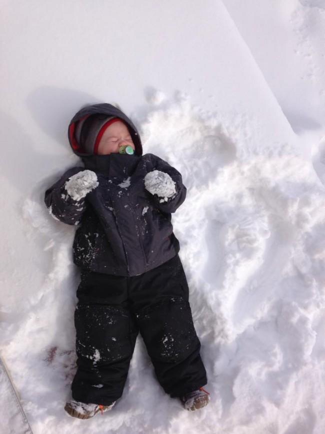 Snow baby [Terrica Marsh Turner via Facebook]