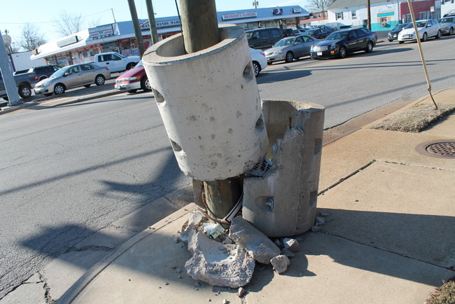 Concrete Pole Barriers : Verizon we replaced the concrete barrier on our utility