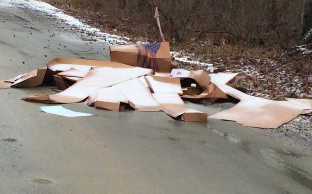 stafford landfill trash street