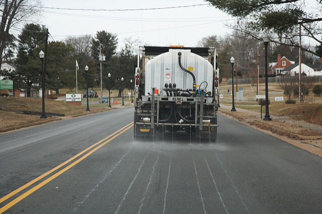 Pretreating Route 6 48 hours before the predicted arrival of a winter storm.